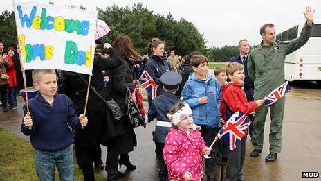 Family homecoming at RAF Marham