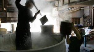 Sake brewing