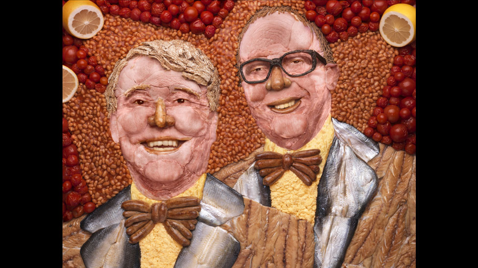 Morecambe and Wise portrait