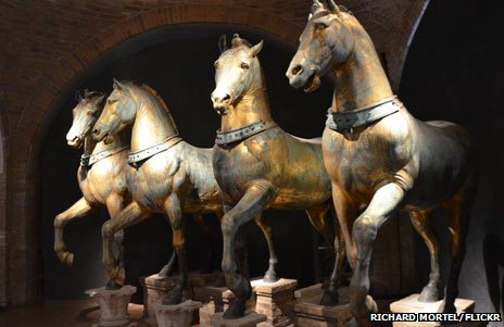 The four horses in Venice's Basilica San Marco, image courtesy of Richard Mortel via Flickr