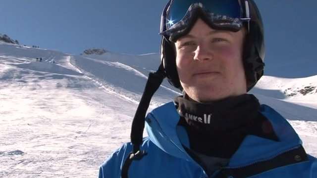 Moguls skiier Ben Cavet