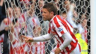 James Beattie scores for Stoke City