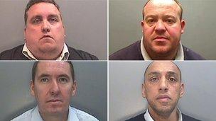 (Clockwise from top left) Jones, Sweeney, Williams, Dodd