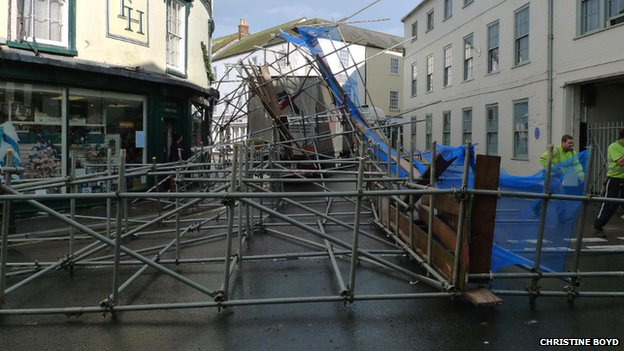 Axminster scaffold collapse