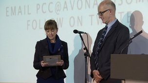 Swearing-in ceremony of Sue Mountstevens, new Avon and Soms PCC