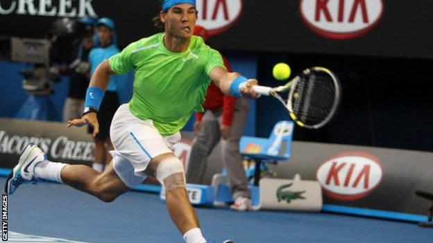 Rafael Nadal back from knee injury in Abu Dhabi event