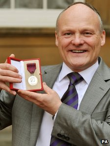Leader of Southampton Council Royston Smith with his George Medal