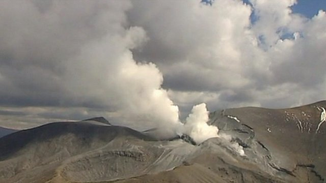 Mount Tongariro on the North Island burst into life sending volcanic ash spewing high into the sky
