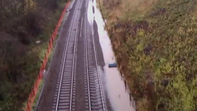 Flooding in Harbury, Warwickshire