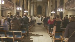 Service at Birmingham Cathedral