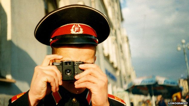 Man in uniform with Lomo
