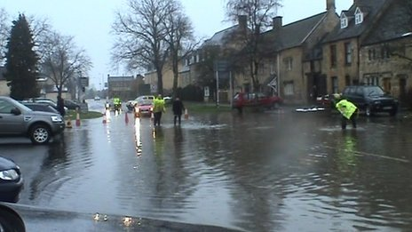 Floodign in Witney