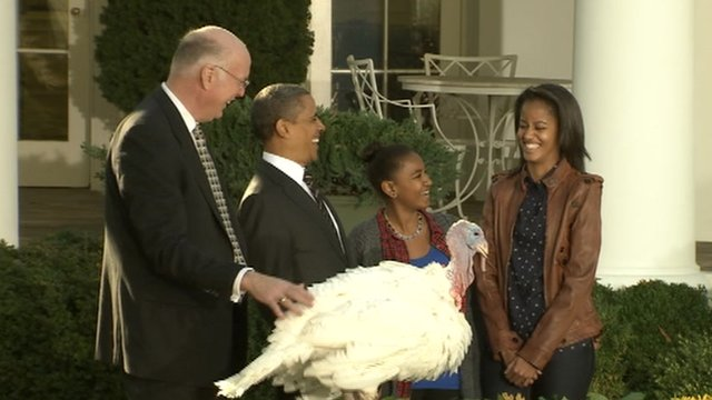 President Obama pardons turkey
