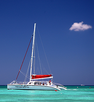 Sailboat in the Cayman Islands