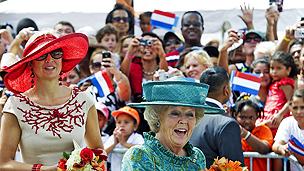 Queen Beatrix visiting Aruba