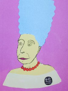 The Queen as Marge Simpson
