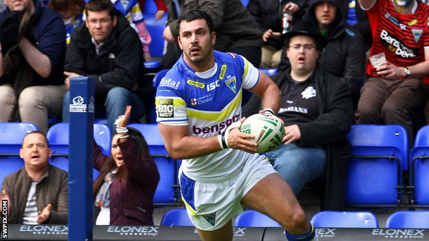Warrington Wolves winger Rhys Williams