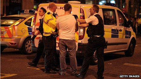 Cardiff revellers dealt with by police