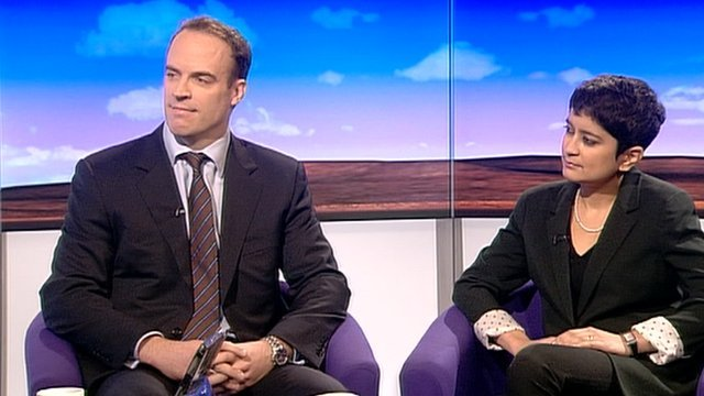 Dominic Raab and Shami Chakrabarti