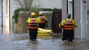 Flooding in Comrie