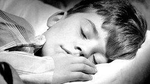 A boy sleeping