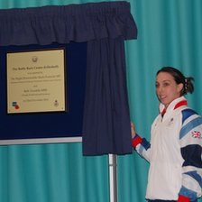 Beth Tweddle opening the centre