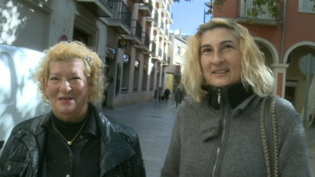 People in the town of Vilafranca del Penedes