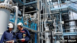 Engineers at oil and gas sector facility