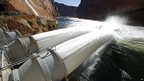 Water flow experiment at Glen Canyon Dam