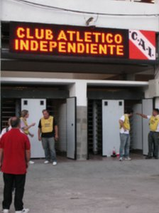 Stewards at Independiente's ground