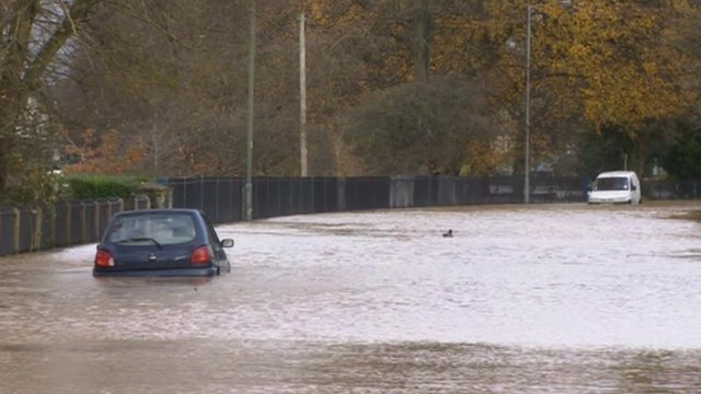 Flooding in Evesham, November 2012