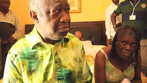 Laurent Gbagbo and his wife Simone on the day they were captured in April 2011 in Abidjan, Ivory Coast