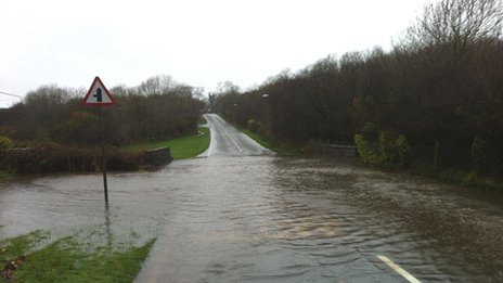 Flooding at Pentraeth