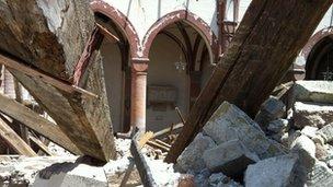 Collapsed church of San Francesco