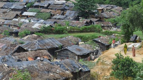 Rohingya village in south-eastern Bangladesh