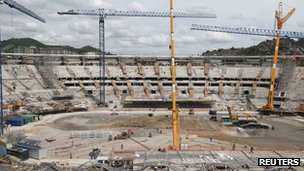 Renovation work continuing at the Maracana Stadium in Rio de Janeiro, as this picture from earlier in November shows