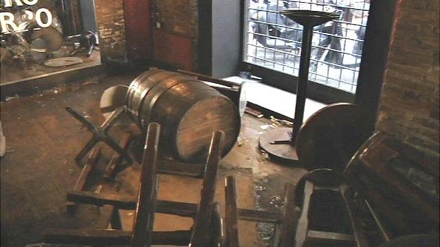 Scene in Drunken Ship bar, Rome