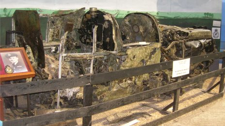 Wreckage displayed at Lincolnshire Aviation Heritage Centre
