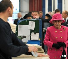 The Queen visits a caravan factory