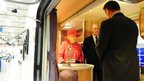 The Queen and Philip inside a part-built motor home