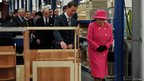 The Queen and Prince Philip touring the Bailey Caravan factory
