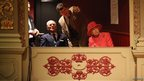 The Queen and Philip sat in the royal box