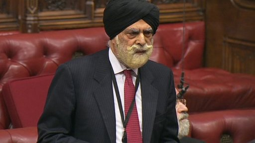 Crossbench peer Lord Singh of Wimbledon