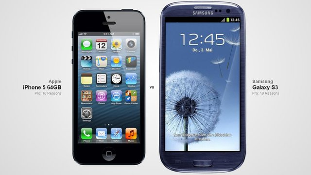 iPhone5 and Galaxy S3