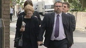 Tim Young arriving at court