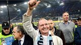Paul Gascoigne salutes supporters in Rome