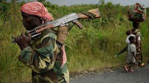 Member of M23 militia group