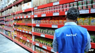 A Bharti Wal-Mart store in India