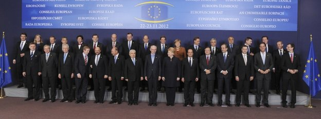 Leaders posing in Brussels