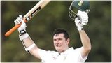 Graeme Smith acknowledges his hundred
